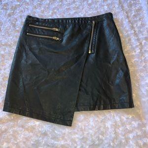 Black forever 21 leather mini skirt